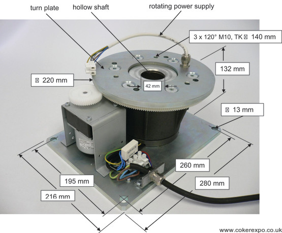 Heavy duty rotating drive motor