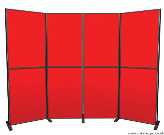 8 Panel and Pole display stand in red and black