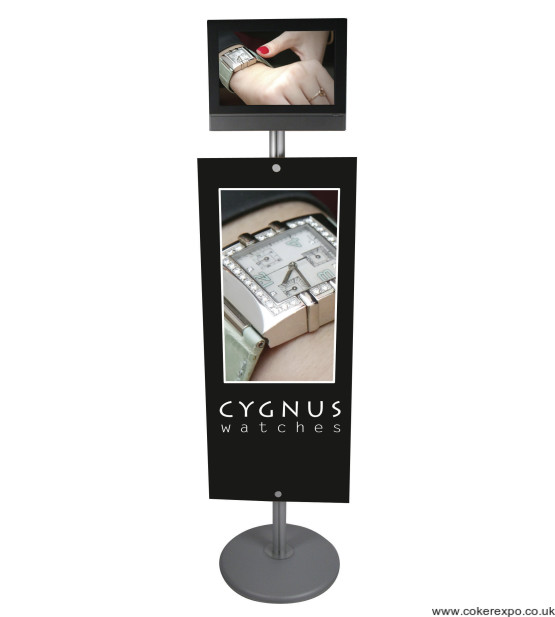 Point of sale literature sign post with Lcd screen