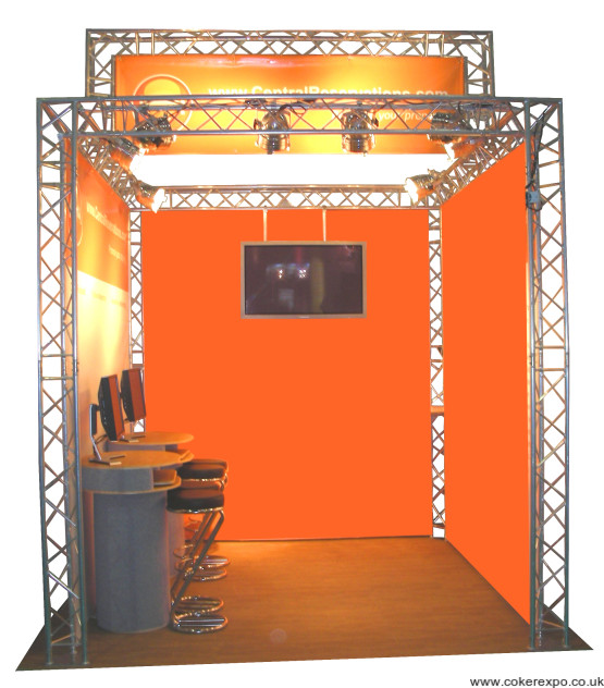 exhibition lighting truss systems with banners
