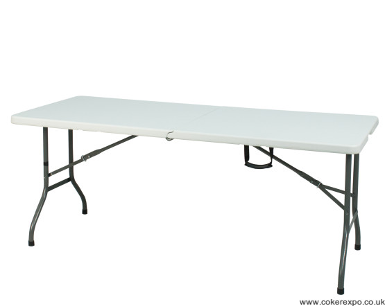 White folding Pvc table for trade shows and exhibitions