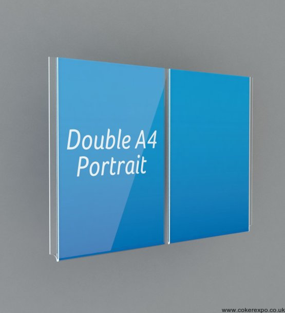 Double and triple acrylic pockets for wire and cable displays