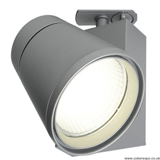 42w Led track light fitting in silver