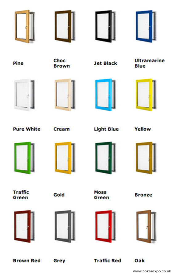 Coloured poster frames A4-60x40inch Range of sizes Landscape or Portrait