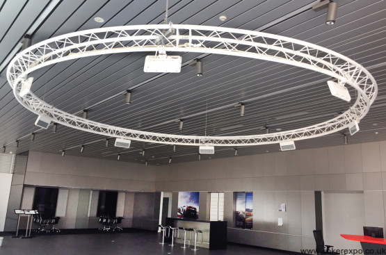 5m diameter aerial lighting truss circle in white