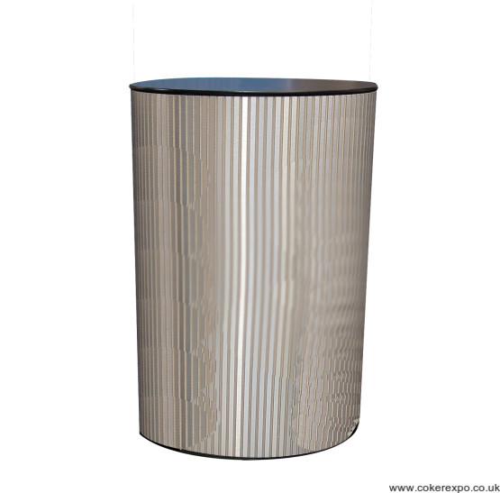 Round aluminium finish display plinth