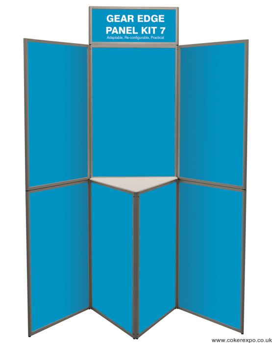 7 panel gear edge folding display