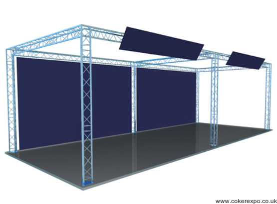 Lighting truss structure with 6 legs