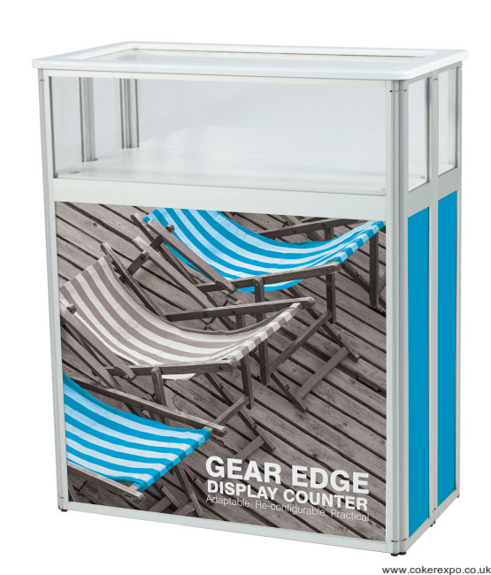 Gear edge display counter with graphics