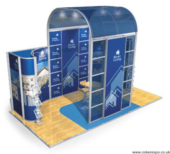Aluminium frame exhibition stand 17