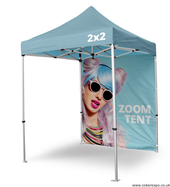 Gazebo event shelter with branding