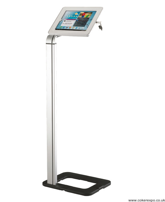 Universal floor standing tablet holder