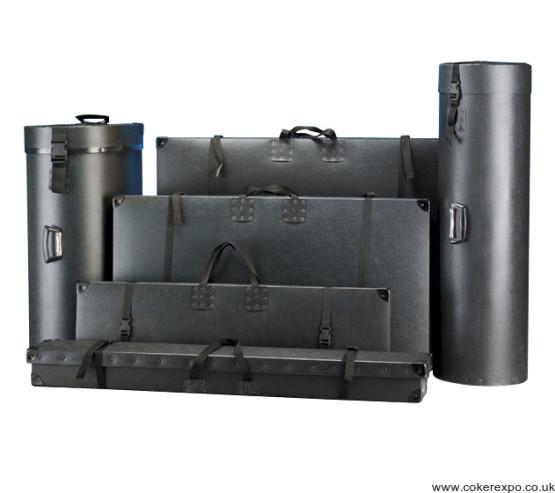 A range of polypropylene packing cases in black