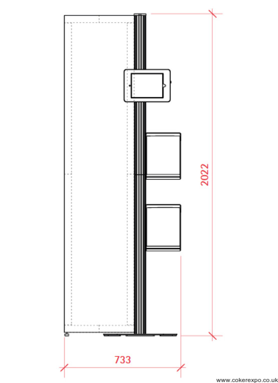 Ipad Point of Sale Display Stand dimensions