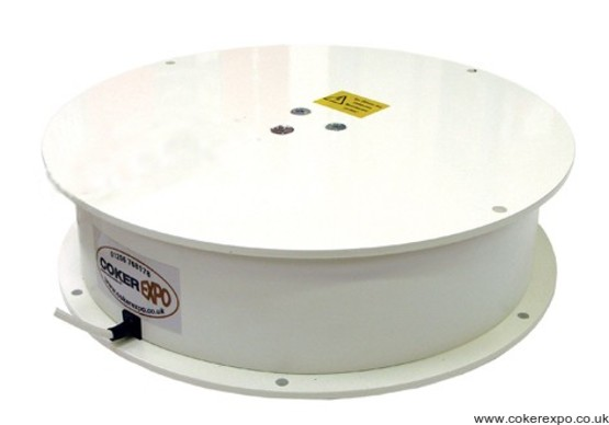 Rotating display turntable TTCSW1000 in white finish.