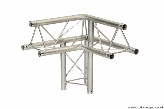 S35 Trio lighting truss 3 way junction apex up left hand