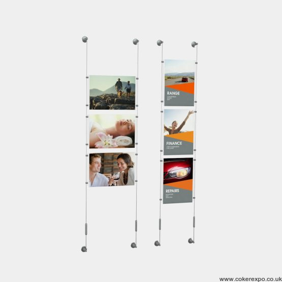 Cable kits Portrait and landscape for window and wall sales