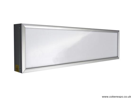 Bespoke display light box in aluminium finish and opal acrylic