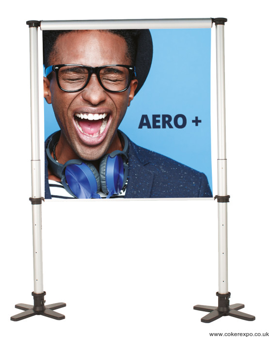 Aero Plus banner system single display