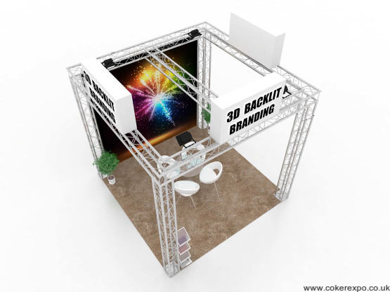 Quad Lighting Truss exhibition stand