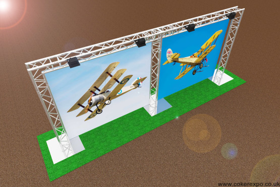 Outdoor gantry banner stand