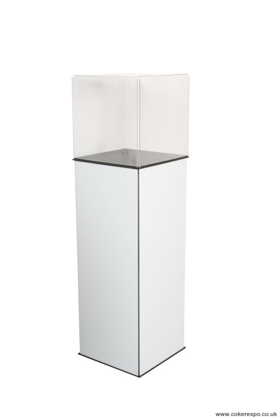 Showcase top box for folding plinths