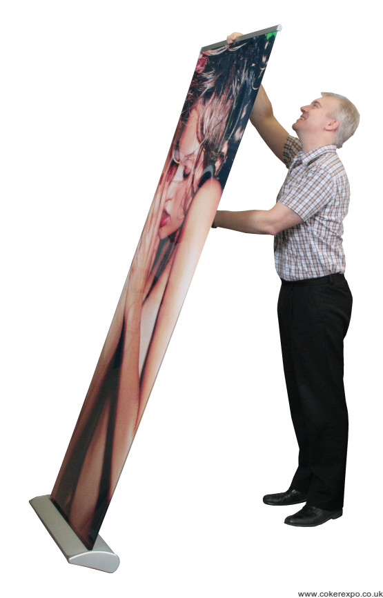 Surrey roller banner stand setup method