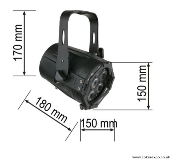 Spotlight specifications and dimensions
