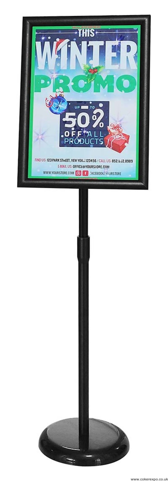 a3 Information sign holder in black