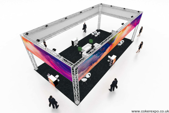 High angle Large Exhibition gantry stand S50 Quad12x6x4M High