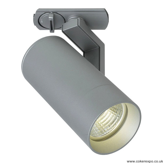 Led Unicity track light fixture in silver