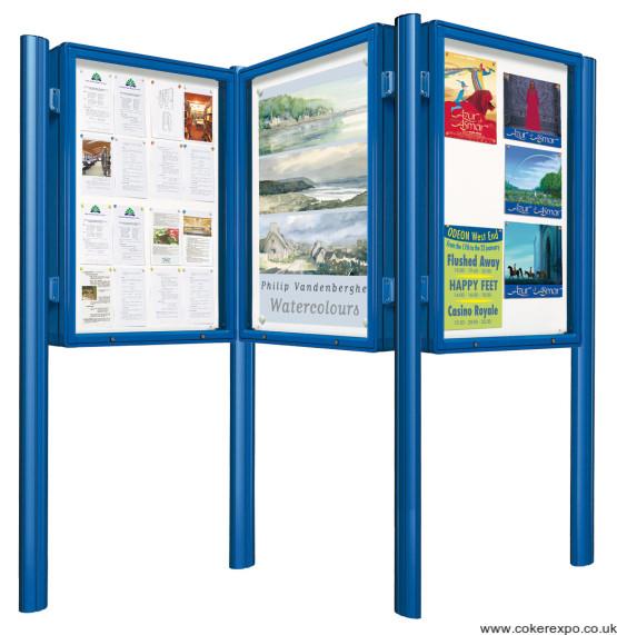 Notice boards with posts arangement