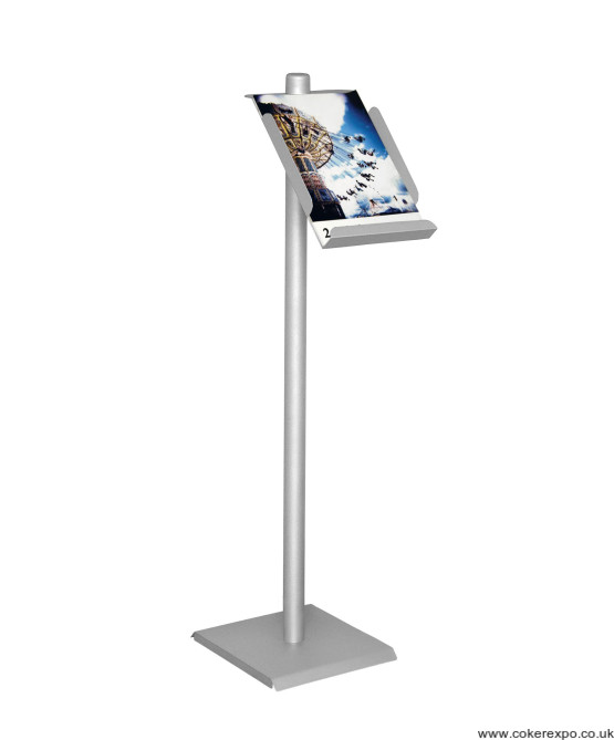 A4 leaflet stand, A4 tray holder for flyers and pamphlets.