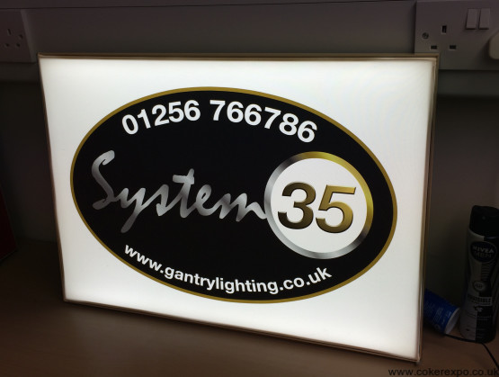 Slimline Led lightbox illuminated