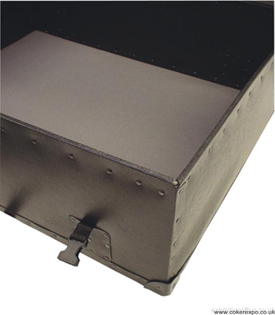 showing Inside a fibre case
