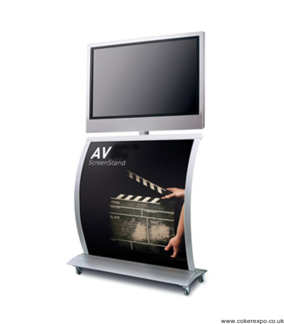 LCD mobile screen stand with branding