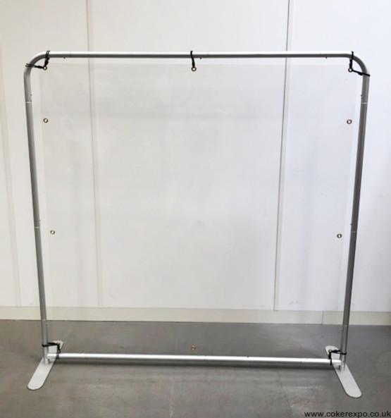 Freestanding protective screen guard
