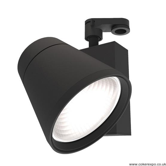 Led track display light in black