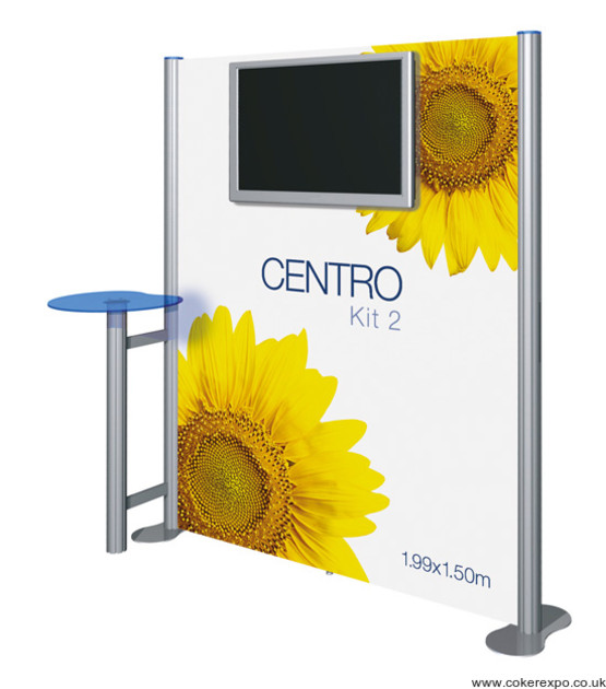 Audio Visual Display Wall Centro Kit 2 with branding