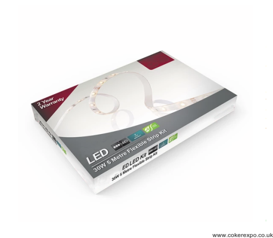 Led Flexible Lighting Strip 3000 kelvin, kit.