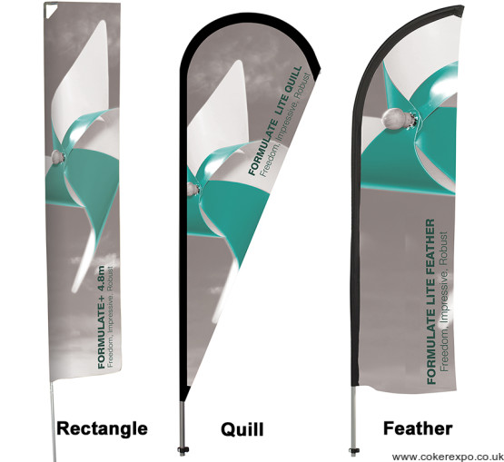 Rectangle quill and feather shape event flags