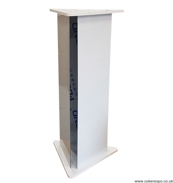 Triangular plinth pedestal