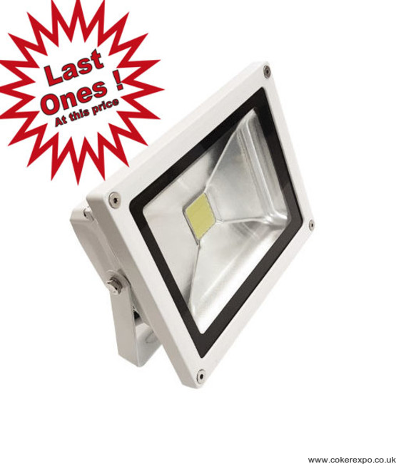 White Led flood light on a hasp - 20 watt