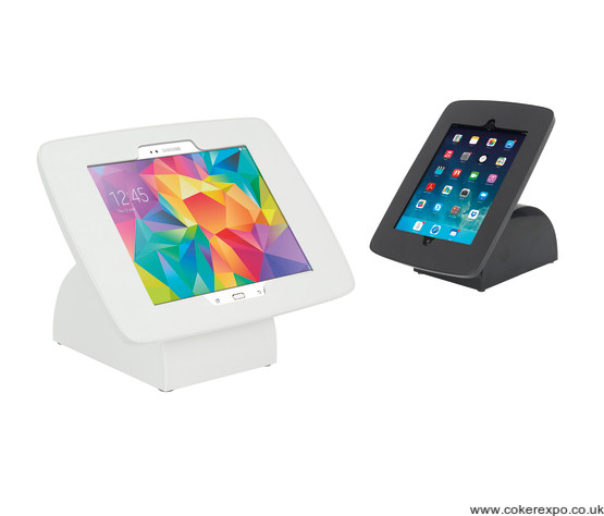 White and black Moonbase tablet holder units