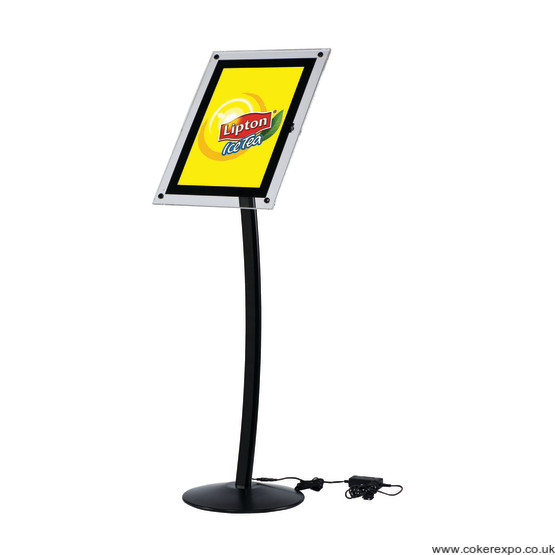 Backlit, Illuminated Menu Stand
