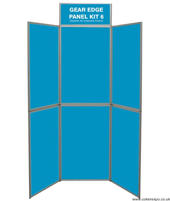 aluminium edge folding display stand
