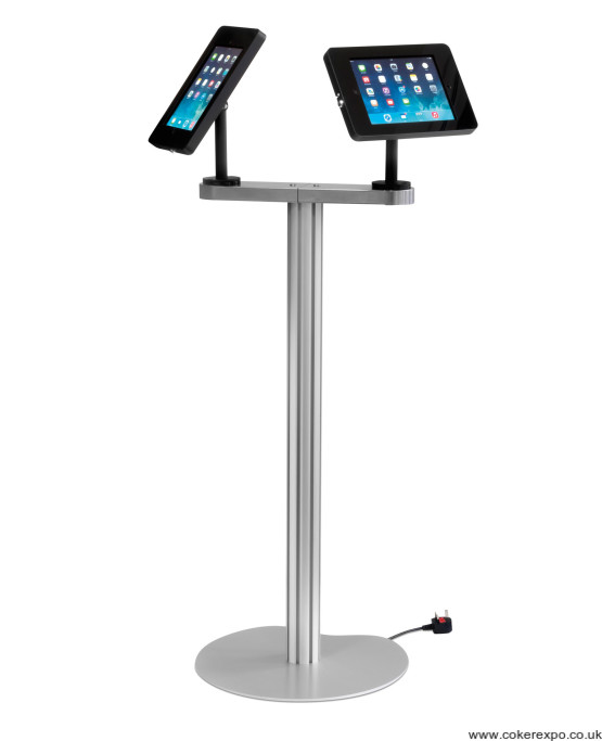 An ipad stand with 2 fixing points.