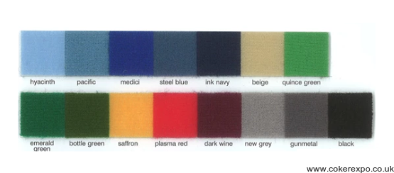 Colour swatch for folding panel systems