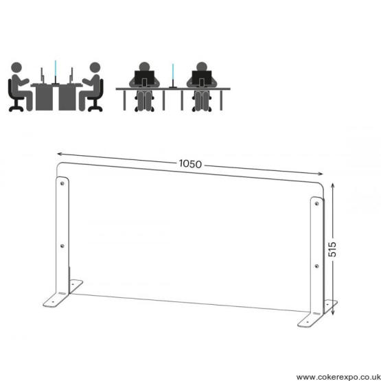 Counter and desk protection screens