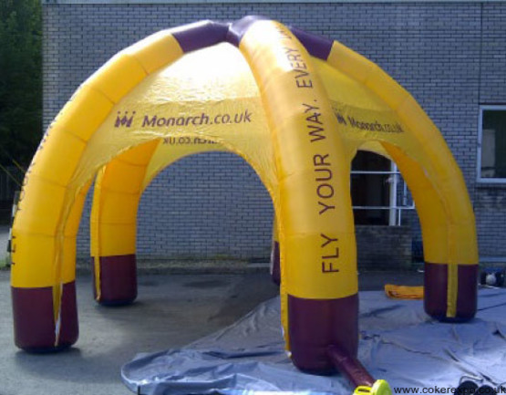 Octopus Inflatable tents for outdoor events.